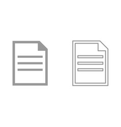 document it is icon vector image vector image