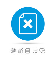 File document stop icon delete doc button vector