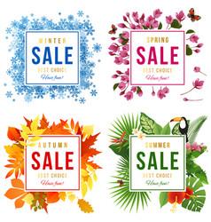 four seasons sale vector image vector image