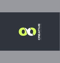 green letter oo o o combination logo icon company vector image vector image