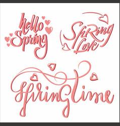 Light calligraphic romantic letterings set vector