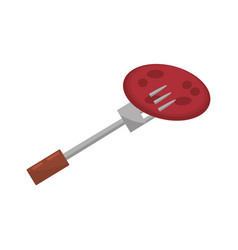 Meat fork food picnic vector