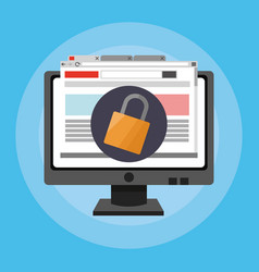 Online security related icons image vector