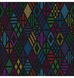 Rhombuses seamless pattern vector image vector image
