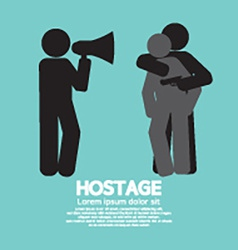 Robbery Hostage And Policeman Graphic Symbol vector image vector image