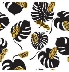 Seamless pattern made from the Monstera leaves vector image vector image