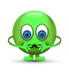sick emoji character vector image vector image