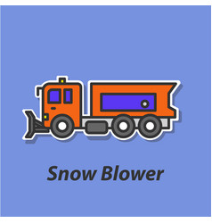 snow blower color flat icon vector image vector image