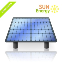 Solar battery panel isolated on white background vector