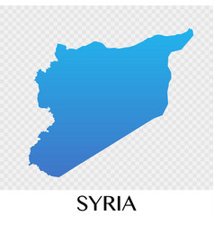 Syria map in asia continent design vector