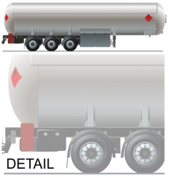 Tanker car vector