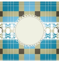 Textile background white lace frame vector image vector image