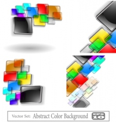 vector abstract color background set vector image vector image