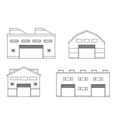 Warehouse logistics building vector