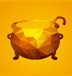 witch cauldron of triangles vector image vector image