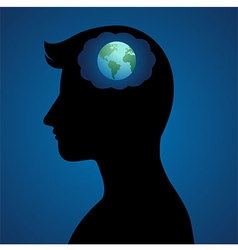 World Thinker vector image