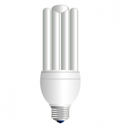 Fluorescent light bulb vector