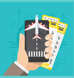Airline tickets online buying or booking vector