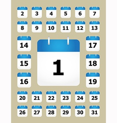 Set of calendar pages vector