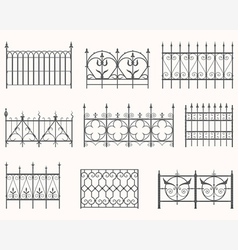 Antique fences - first set vector