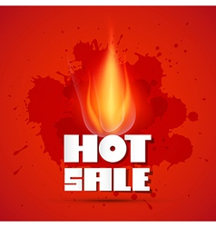 Hot sale title in flames vector