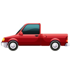A red vehicle vector image