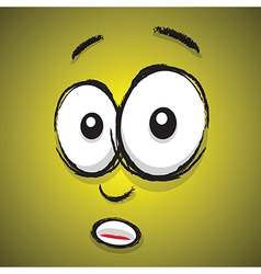 emotions yellow shocked vector image