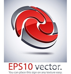 3d modern swirl logo icon vector