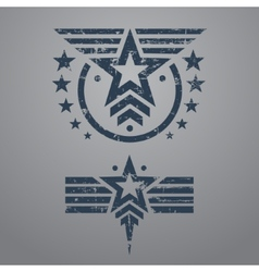 Military style emblem set vector