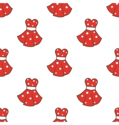 Retro style dresses seamless pattern vector