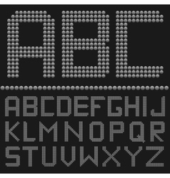 Round letter set vector image