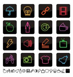 neon icons vector image