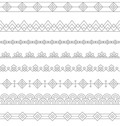 Art Deco Borders Style Line and Geometric Linear vector image