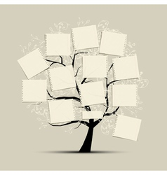 Art tree with papers for your text vector