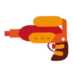 Toy gun icon vector
