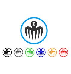 Bitcoin spectre monster icon vector