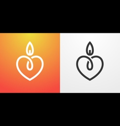 Candle light romantic logo vector image