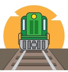 Cargo train vector image