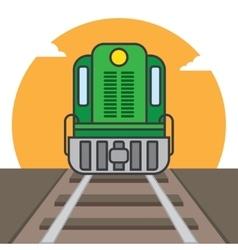 Cargo train vector