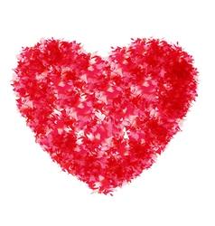 carpet paper heart vector image