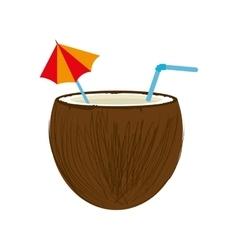 coconut cocktail drink design vector image