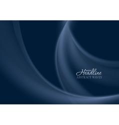Dark blue smooth soft wavy background vector image vector image