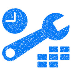 Date and time configuration grunge icon vector