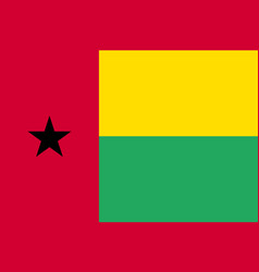 Guinea bissau national flag and ensign vector