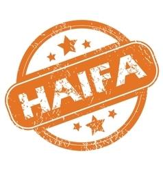 Haifa round stamp vector