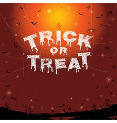 Happy Halloween trick or treat banner background vector image vector image