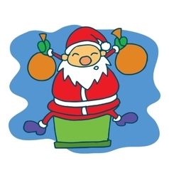 Happy santa cartoon christmas theme vector