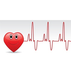 heart and heartbeat vector image