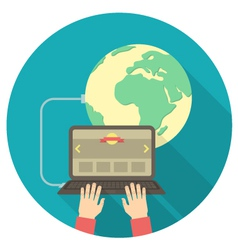 Internet connection concept vector image vector image