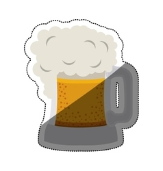 Isolated beer design vector image vector image